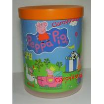 Potes Con Tapa Peppa Pig, Coquitos, Deportes, Y + Cotillón.