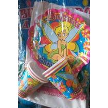 Mantel Vasos Platos Campanita Peter Pan Mickey Stefany