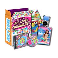 Mega Kit Imprimible Invitaciones Modernas + Regalos