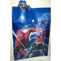 Bolsa Carpeta Spiderman Ben10 Bob Esponja Cotillon