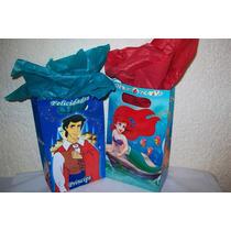 Bolsa Cotillón Sirenita Principe Mickey Minnie Dora Diego