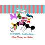 Imprimible - Props Habladores Mickey Mouse! Fotos,hora Loca