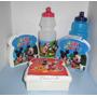 Mickey, Mario Bros, Sandwichera + Cooler, Combo Cotillón