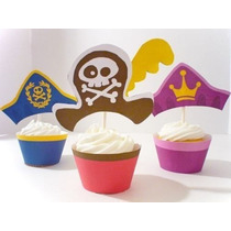 Kit Imprimible Jake Piratas Cupcake Wrapper Topper Souvenir
