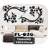 Vinilos Decorativos Para Paredes Florales Mariposas Stickers
