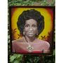 Retrato De Celia Cruz Joven En Acrilico