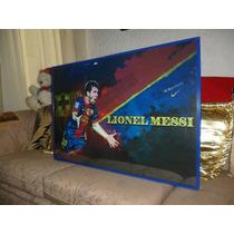 Cuadro Grande Enmarcado D Futbol, Barcelona, Lionel Messi, 1