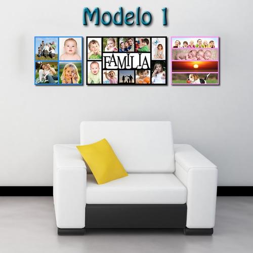 Cuadros Foto Collage Decorativos Para Hogar Dia Madre Padre - Bs. 3