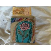 Pintura Rosa Acrilico Sobre Madera