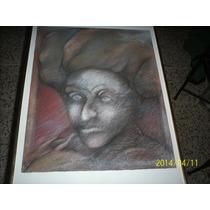 Pintura En Carboncillo Y Pastel Jorge Estrada Año 81