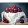 Cuadro Moderno Bodegon Con Frutas,ceresas Pintura Al Oleo