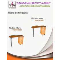 Mesa De Manicure Mary 4 Gavetas Con Llave