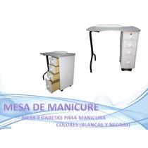 Mesa Para Manicurista F4 De 4 Gabetas Sauna Salud