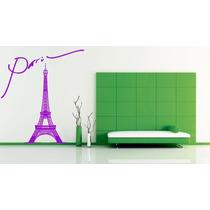 Vinilos Decorativos Torre Eiffel Grande -paredes-viniles