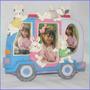 Portaretrato Infantil Grande Para 2 Y 3 Fotos Conejos Perrit