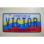 Placa Personal Reflectiva Estampada Con Relieve (muestra)