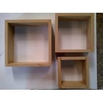 3 Cubos Repisas Para Pintar En Mdf Crudo Tipos Cubos 18mm