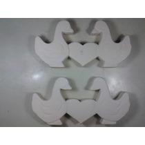 Muñecos Ceramica Patos Con Corazon 16 Piezas Para Pintar