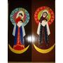 Virgen De La Chiquinquira (chinita) En Mdf. Pintada A Mano.