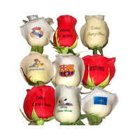 Rosas Personalizadas Flores Estampada Floristeria Enamorados