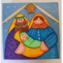 Bella Caja Con Nacimiento Pintado A Mano Estrella Al Relieve