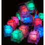 Cubos De Hielo Luz Led Multicolor P/ Fiestas Eventos