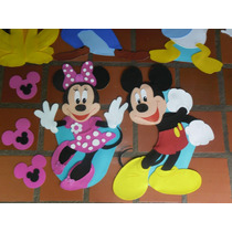 Mickey Minnie Disney Figuras De 80cm En Foami Para Decorar