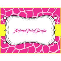 Kit Imprimible Animal Print Jirafa Cumpleaño Torta Fiesta