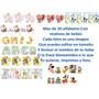 Letras Carteles Baby Shower Juegos Plantillas Kit Imprimible