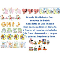Letras Carteles Baby Shower Juegos Plantillas Kit Imprimible