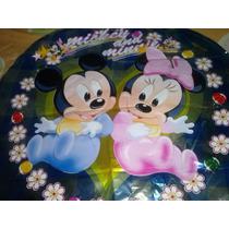 Globos Metalizados De Mickey Y Minnie Bebe
