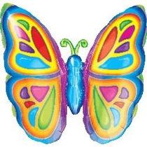 Globos Metalizados Mariposas, Flores, Hongos 14