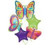 Globos Metalizados Bouquet De Mariposas, Sol, Sirenita, Pooh