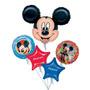 Bouquet De Globos Metalizados Mickey Gigantes