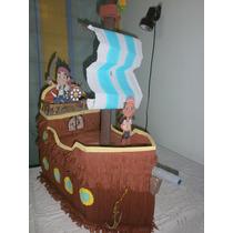 Combo Piñata Mas Chupetera Barco Jake Y Los Piratas