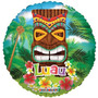 Globo Metalizado Hawaiano Tiki Luau Playa Isla 18 Pulgadas