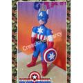 Capitan America En Masa Flexible Para Centro De Torta