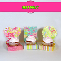 Mega Kit Imprimible Cupcake, Wrapper, Capacillos, Envoltorio