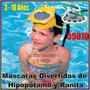 Mascara De Natacion Niños Hipopotamo Y Ranita 55910 Intex