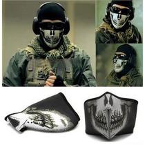 Mascara Calavera Tapa Boca Tactico Motociclista Militar