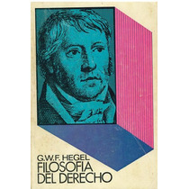 Libro, Filosofía Del Derecho De G. W. F. Hegel.