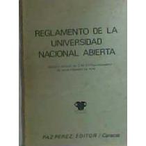 Reglamento De La Universidad Nacional Abierta 1978