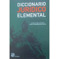 Diccionario Juridico Elemental De Guillermo Cabanellas