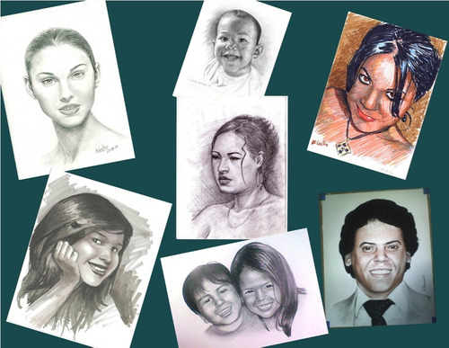 Dibujos, Retratos, Pinturas, Caricaturas, Eventos