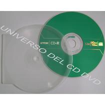 Estuche Polvera Concha Ostra Cd-r Dvd-r Transparente Paq 50