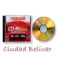 Cd Virgen. Con Estuche. Maxell. Music 80min 700mb