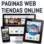 Páginas Web Y Tiendas Virtuales + Hosting + Dominio Gratis