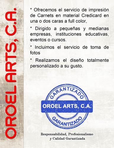 Diseño E Impresión De Carnets En Credicard Y Pvc