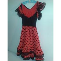 Hermoso Disfraz Bailaora De Flamenco 4-8 Años Compre España