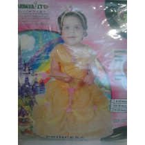 Disfraz De Princesa Bella. La Bella Y La Bestia. Bebe.
